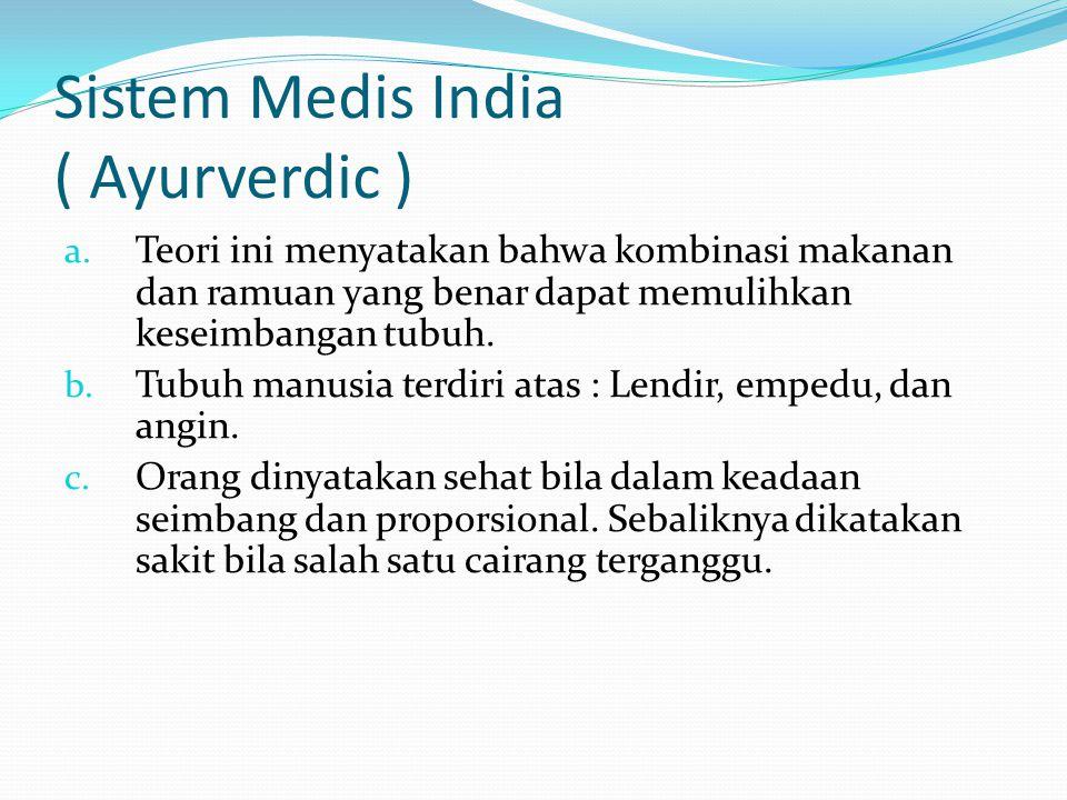Sistem Medis India ( Ayurverdic ) a.
