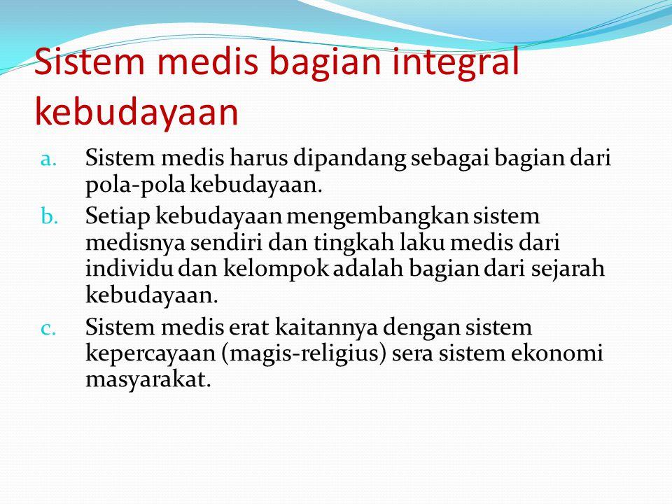 Sistem medis bagian integral kebudayaan a.