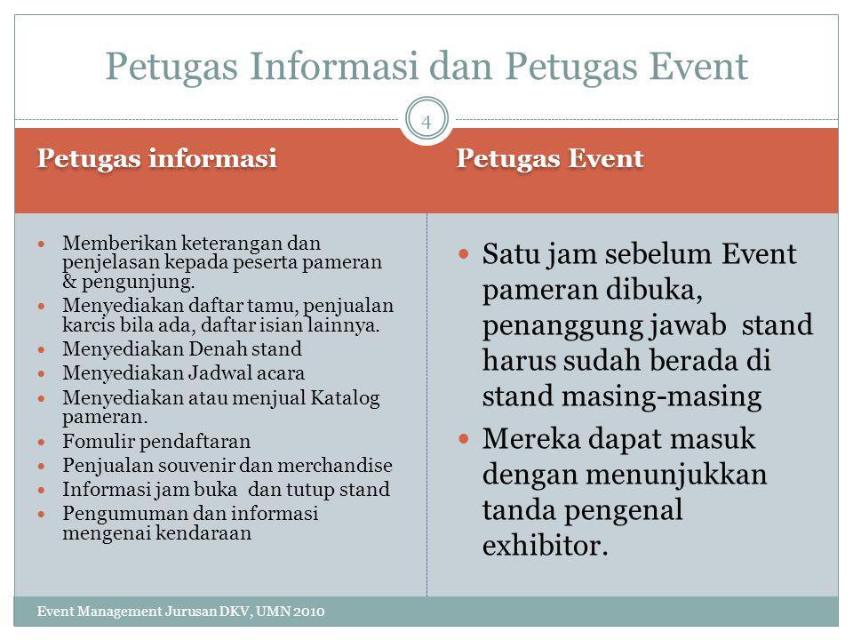Publikasi Promosi Event Management Jurusan DKV, UMN 2010 Berita Artikel SMS Iklan: Situs, Jejaring sosial, Brosur Poster SMS 5 Publikasi dan promosi di Media Massa