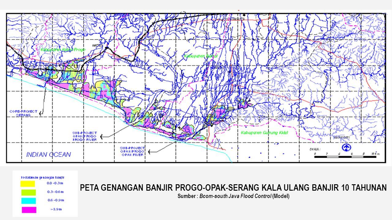 Data Banjir Tahun 2008, Sumber : Pola WS POS, debit kala ulang 20 tahun DATA GENANGAN 2.2 Kondisi Banjir di WS POS PETA GENANGAN
