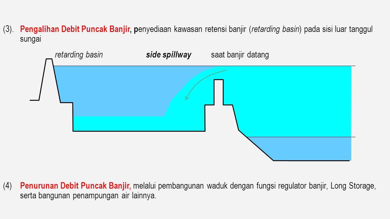 (2). Perbaikan Pengaturan Sungai ( river improvement ) serta Anak Anak Sungai Significant. - Normalisasi pengerukan perbaikan alur - Pembangunan Tangg