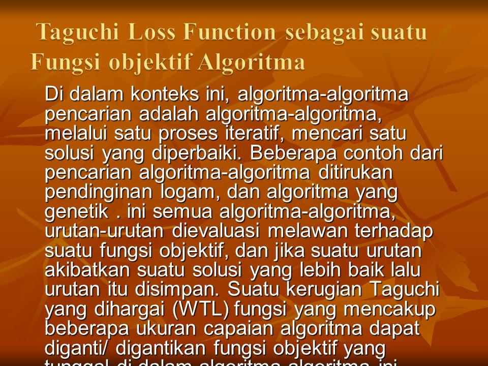 Di dalam konteks ini, algoritma-algoritma pencarian adalah algoritma-algoritma, melalui satu proses iteratif, mencari satu solusi yang diperbaiki.