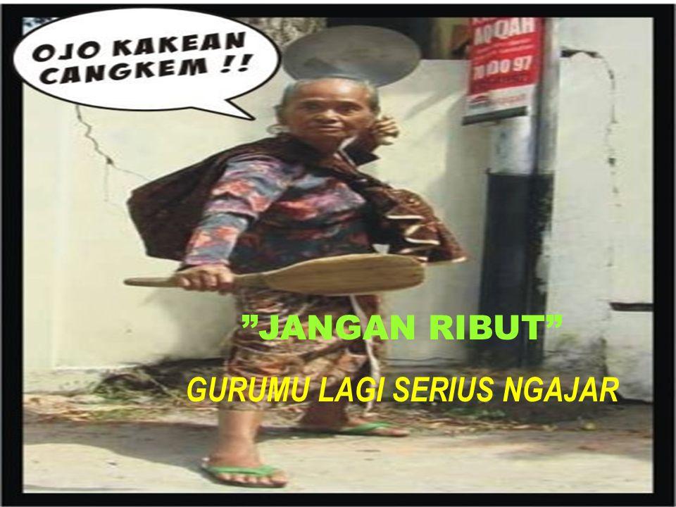 """""""JANGAN RIBUT"""" GURUMU LAGI SERIUS NGAJAR"""