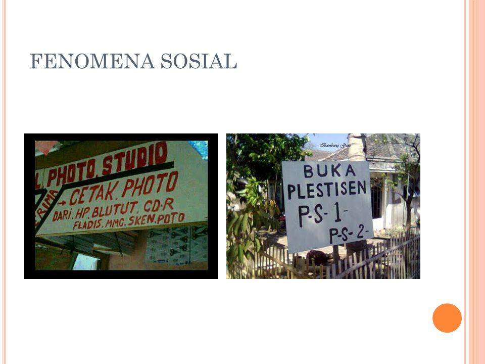 FENOMENA SOSIAL
