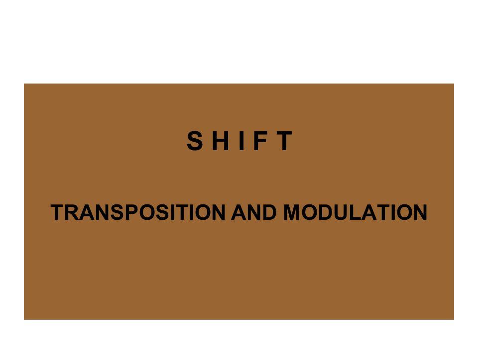 SHIFT (TRANSPOSITION & MODULATION) S H I F T (TRANSPOSITION & MODULATION) Transposition is a translation procedure involving a change in the grammar from SL to TL (Newmark, 1988: 85) Modulasi melibatkan pergeseran makna karena terjadi perubahan perpektif dan sudut pandang (Machali, 2000: 69)