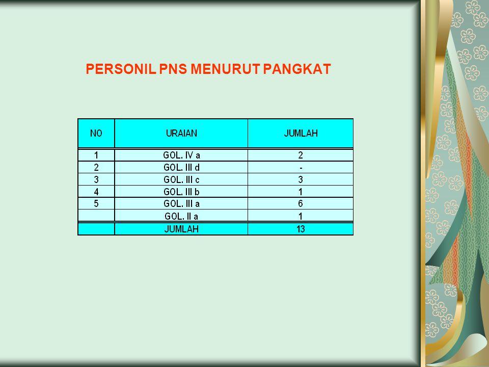 PERSONIL PNS MENURUT PANGKAT