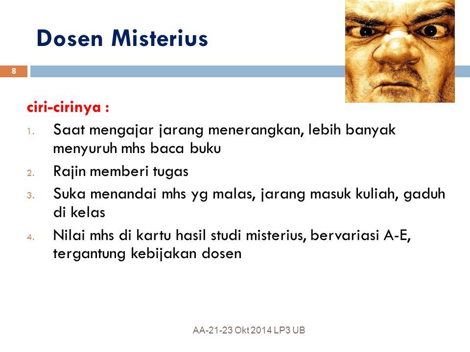 Dosen Gendeng a.Dosen jarang masuk, dari 14 kali pertemuan cuma 3-4 kali ngajar b.
