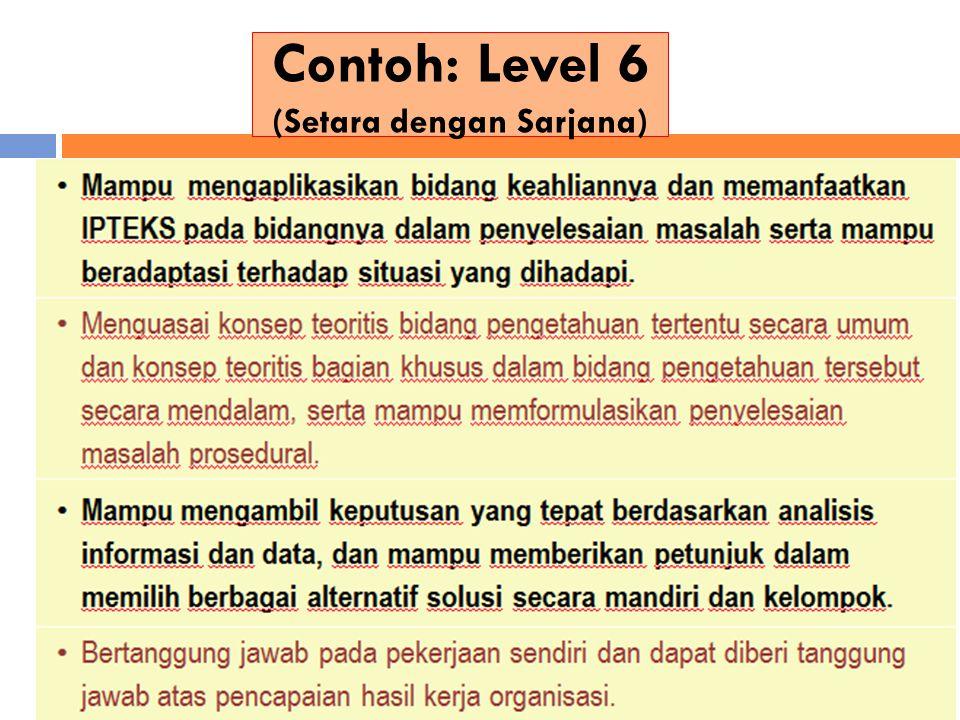 Contoh: Level 6 (Setara dengan Sarjana)