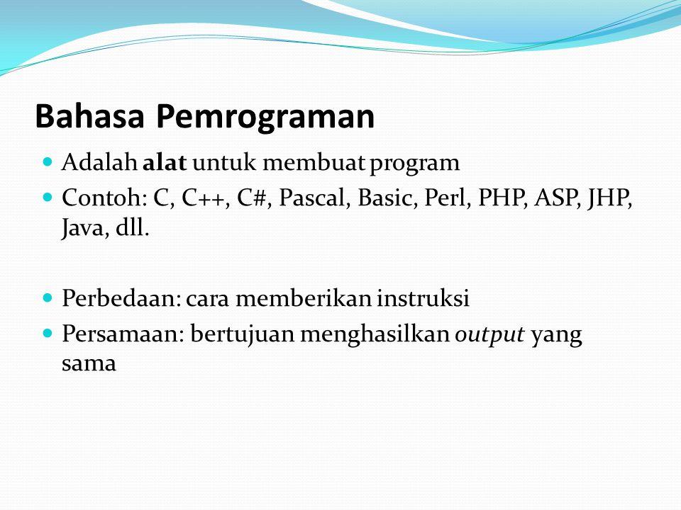 Paradigma Pemrograman Pemrograman Prosedural Berdasarkan urutan-urutan, sekuensial Program adalah suatu rangkaian prosedur untuk memanipulasi data.