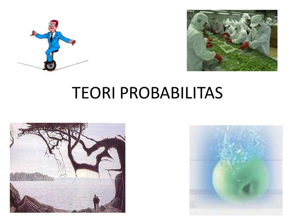 Probabilitas suatu peristiwa adalah harga angka yang menunjukkan seberapa besar kemungkinan suatu peristiwa terjadi.