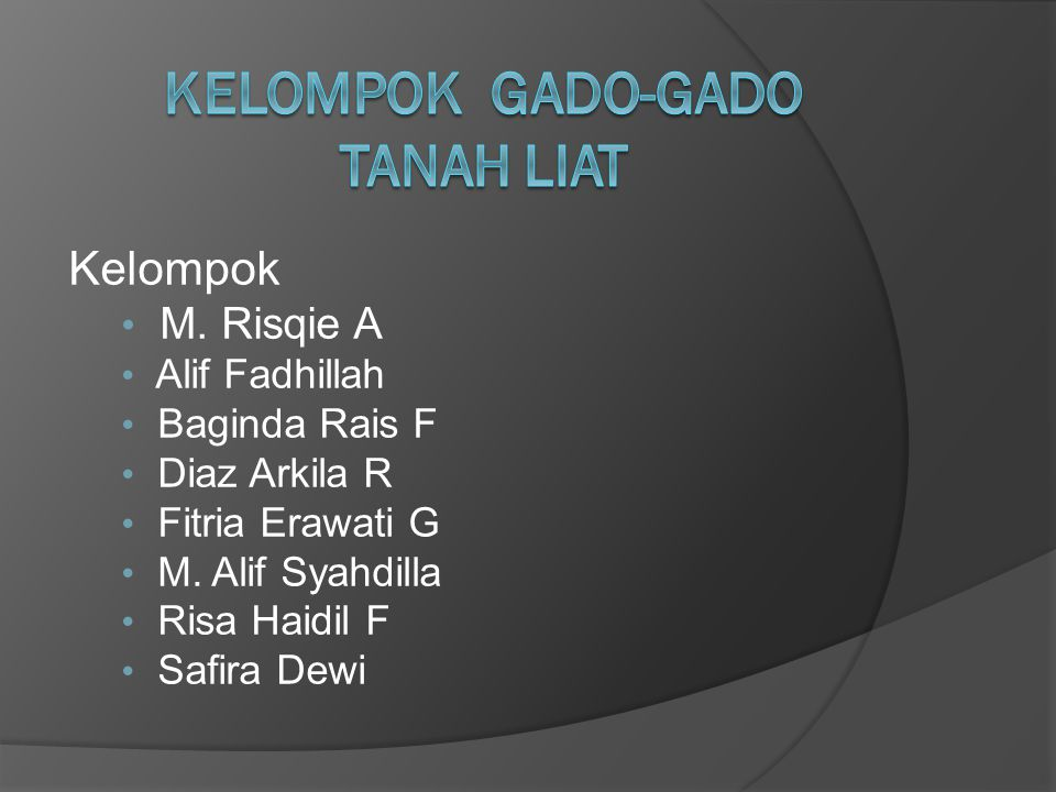 Kelompok M. Risqie A Alif Fadhillah Baginda Rais F Diaz Arkila R Fitria Erawati G M.
