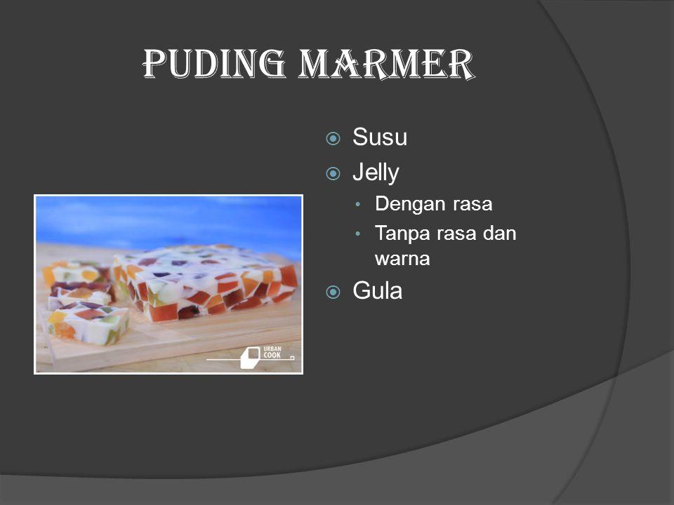 Puding Marmer  Susu  Jelly Dengan rasa Tanpa rasa dan warna  Gula