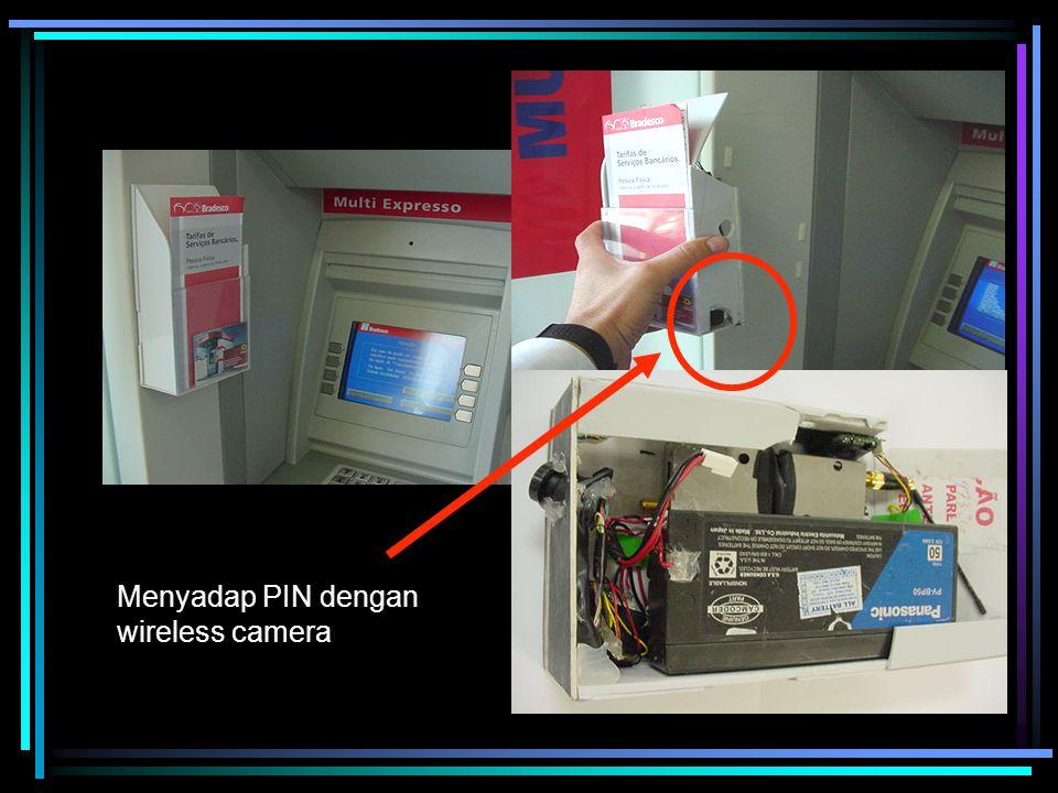 Menyadap PIN dengan wireless camera