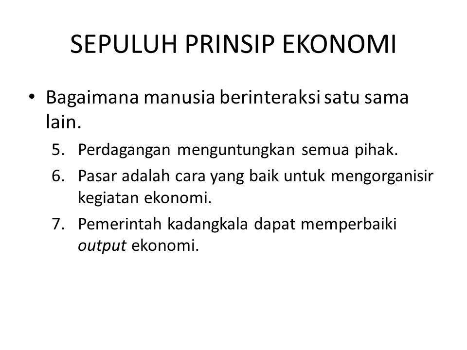 Prinsip #6: Pasar adalah cara yang baik untuk mengorganisir kegiatan ekonomi.