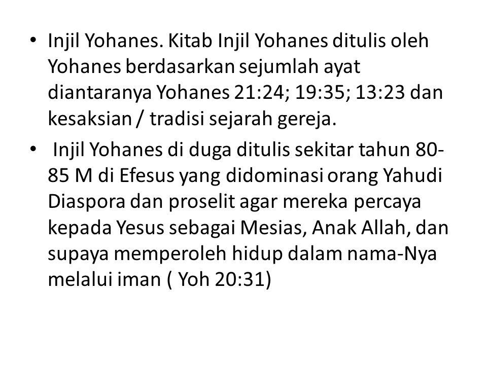 Penulis Injil Yohanes memberitahukan pra-eksistensi Yesus.