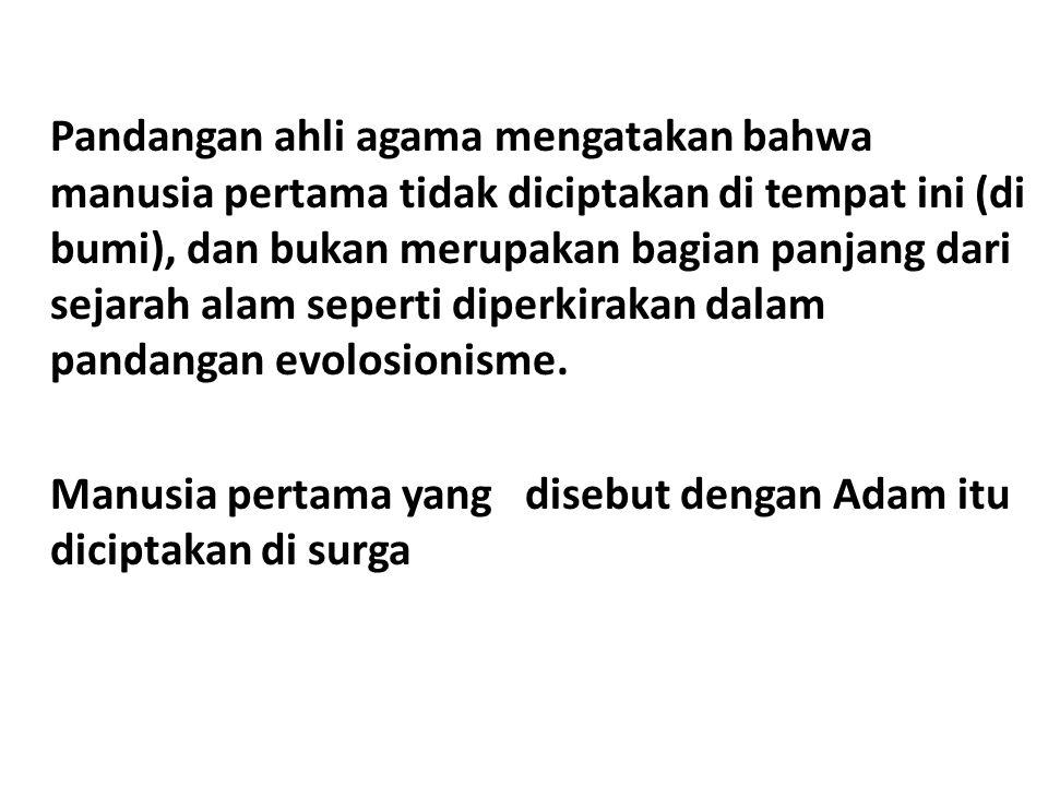 Pandangan lain menyebutkan bahwa Adam yang datang dari syurga itu bukan bersifat fisik.