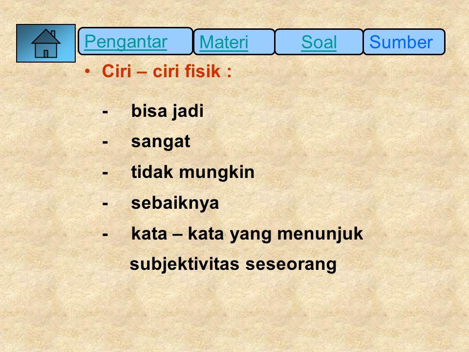Pengantar SumberSoalMateri (3) Sesuai dengan ikrar Sumpah Pemuda pada tanggal 28 Oktober 1928, bahasa yang satu adalah Bahasa Indonesia.