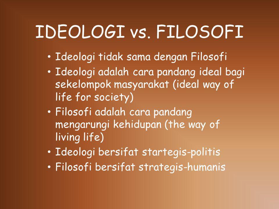 IDEOLOGI vs.