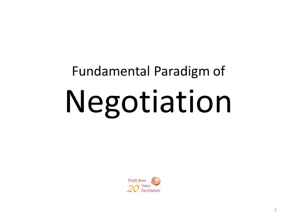 3 Fundamental Paradigm of Negotiation