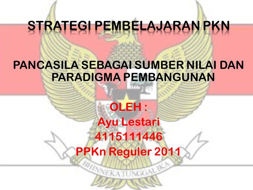  Hakikat pembangunan nasional pembangunan manusia Indonesia seutuhnya dan pembangunan masyarakat Indonesia seluruhnya.
