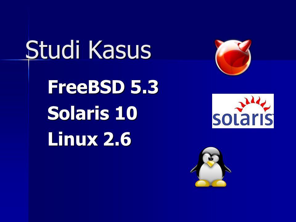 Studi Kasus FreeBSD 5.3 Solaris 10 Linux 2.6