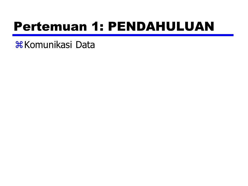 Pertemuan 1: PENDAHULUAN zKomunikasi Data