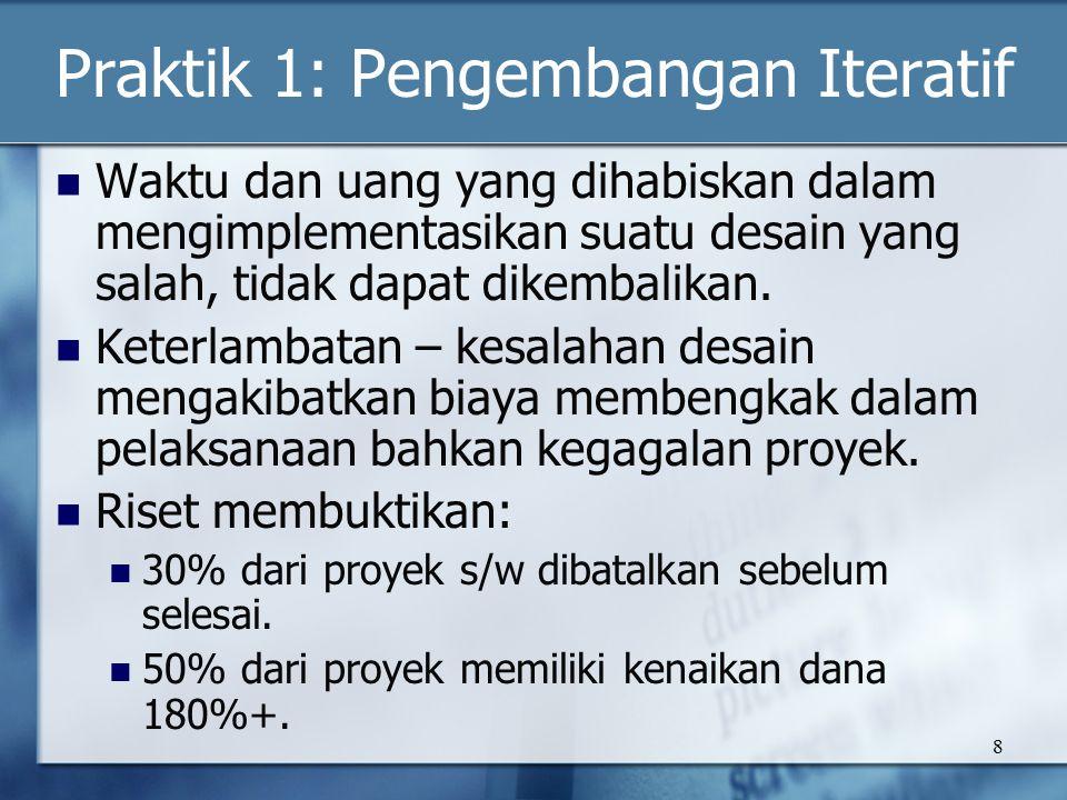 19 Praktik 6: Mengelola Perubahan Change request management (CRM) Configuration status reporting.