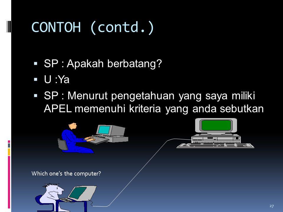 CONTOH (contd.)  SP : Apakah berbatang.