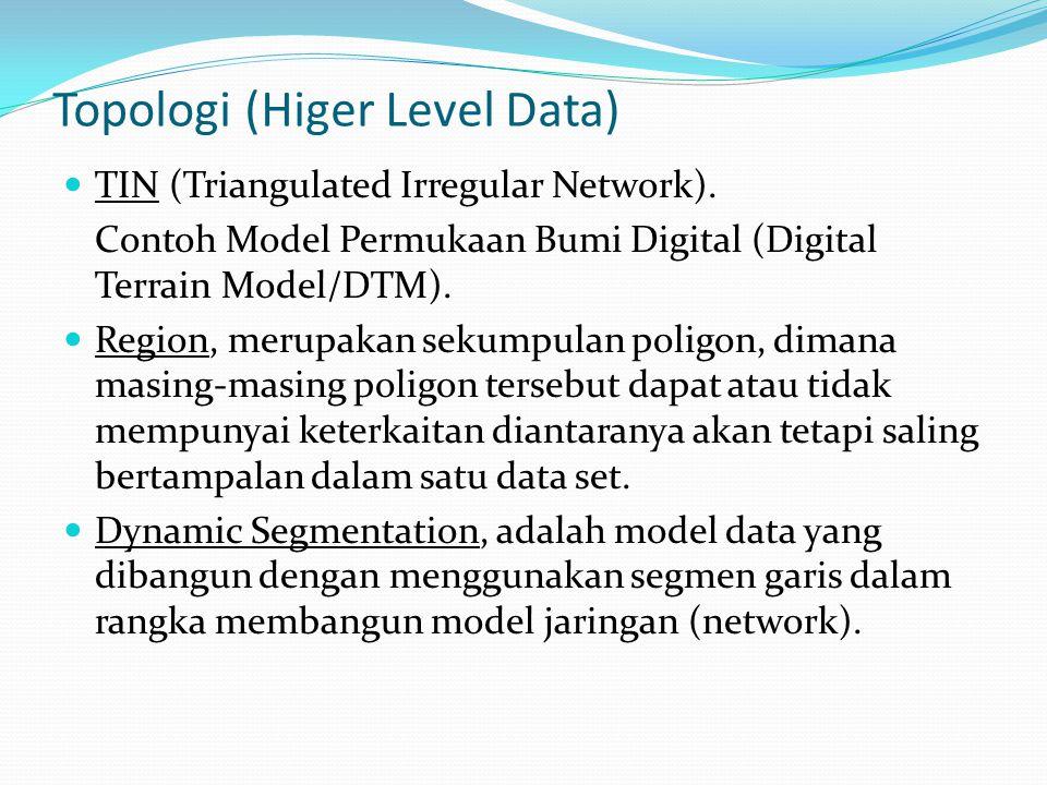 Topologi (Higer Level Data) TIN (Triangulated Irregular Network).