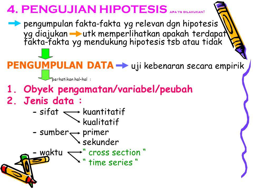 4.PENGUJIAN HIPOTESIS apa yg dilakukan.