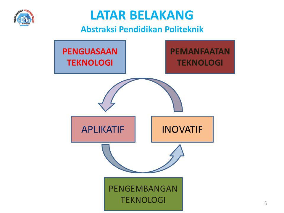 bridge to the future LATAR BELAKANG Model Pendidikan Tinggi Politeknik 7 Balanced the theoretical and practical.