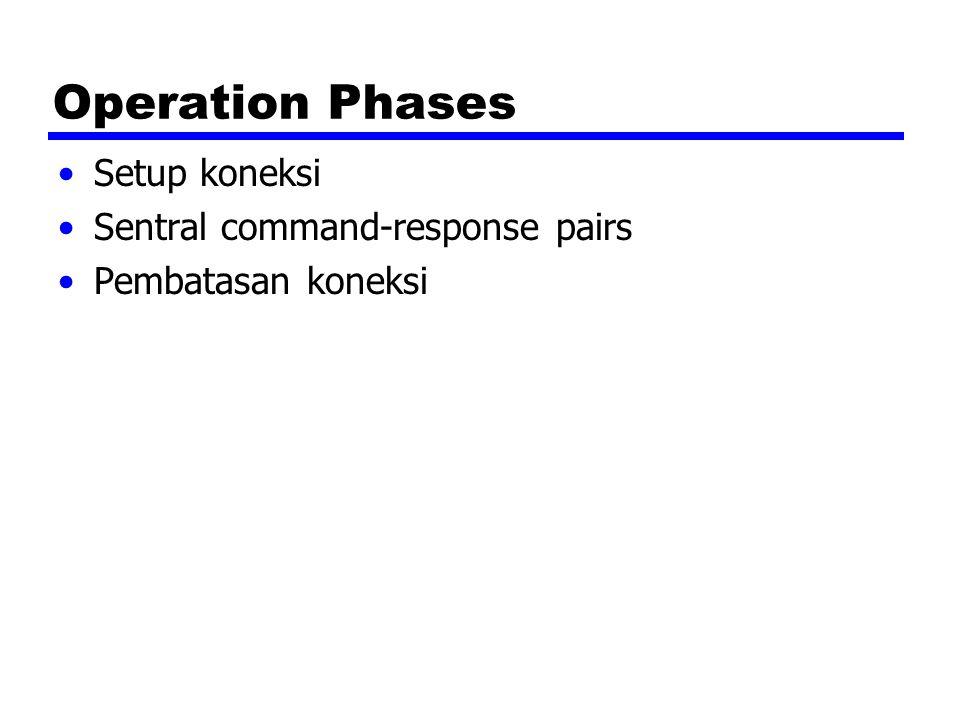 Operation Phases Setup koneksi Sentral command-response pairs Pembatasan koneksi