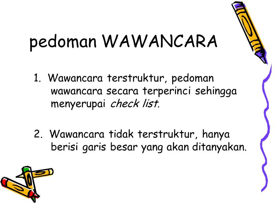pedoman WAWANCARA 1.