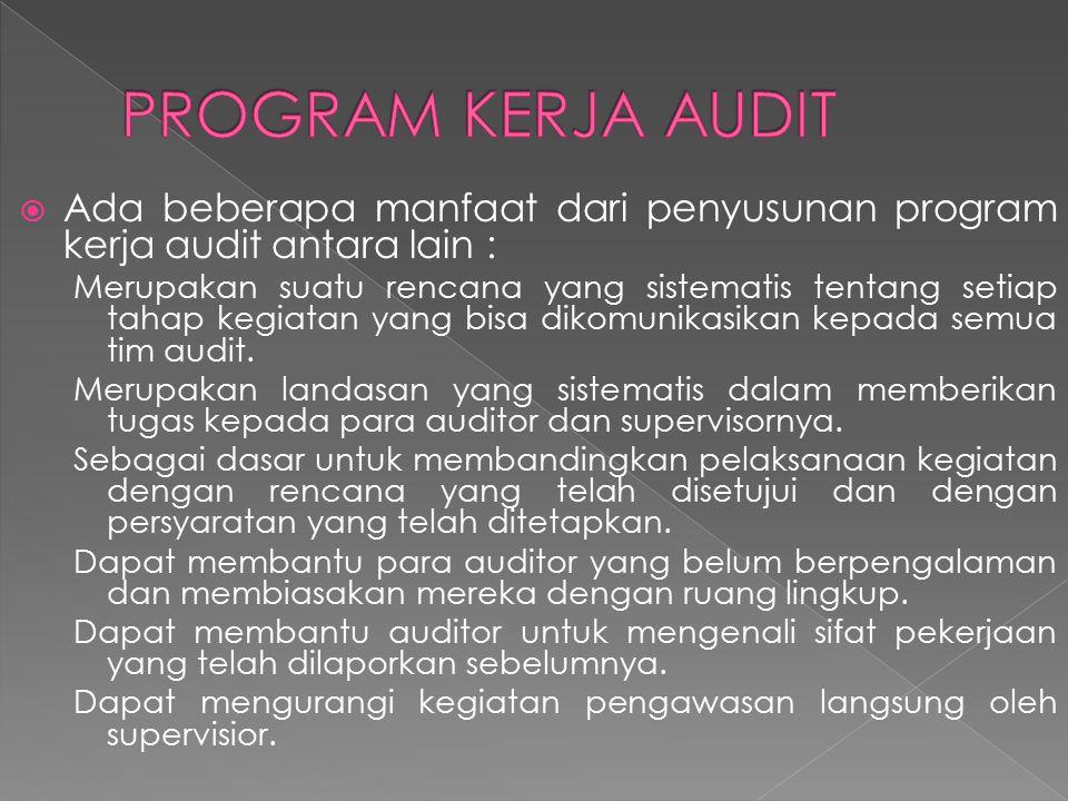  Pengorganisasian KKA harus selalu dikaitkan dengan tujuan audit utama atau sub sub tujuan audit yang ditetapkan auditor.