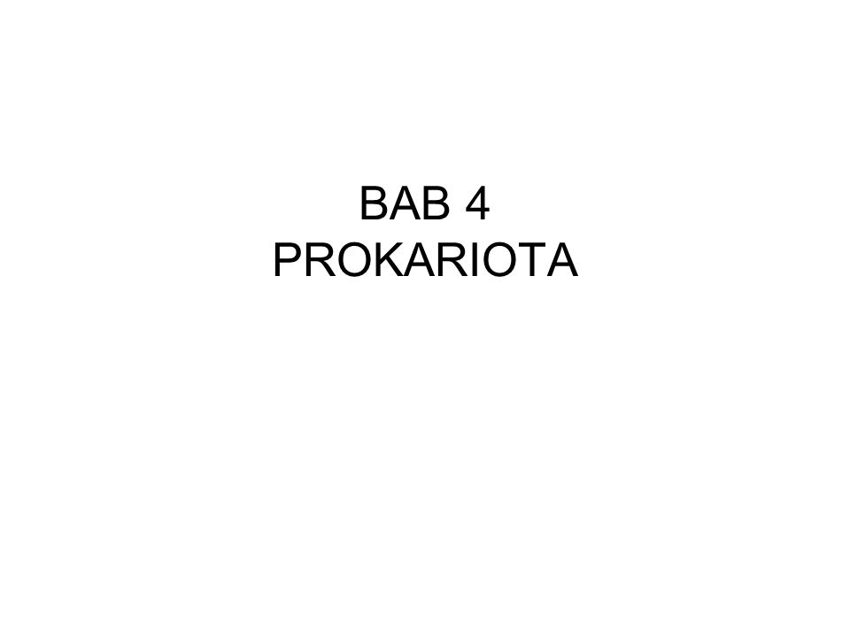 BAB 4 PROKARIOTA
