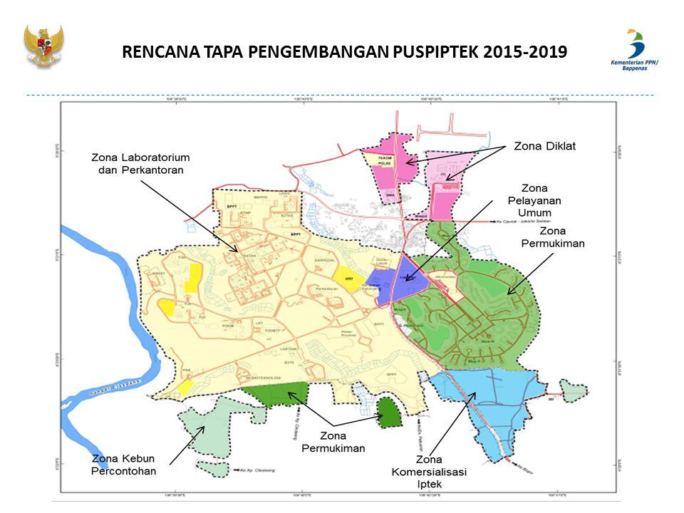 RENCANA TAPA PENGEMBANGAN PUSPIPTEK 2015-2019