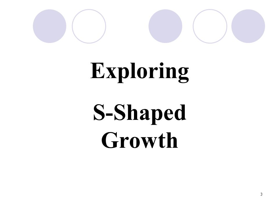 3 Exploring S-Shaped Growth