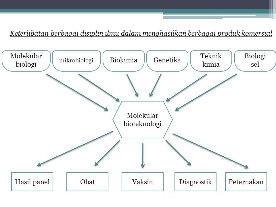 Molekular biologi mikrobiologi BiokimiaGenetika Teknik kimia Biologi sel Hasil panelObatVaksinDiagnostikPeternakan Molekular bioteknologi Keterlibatan