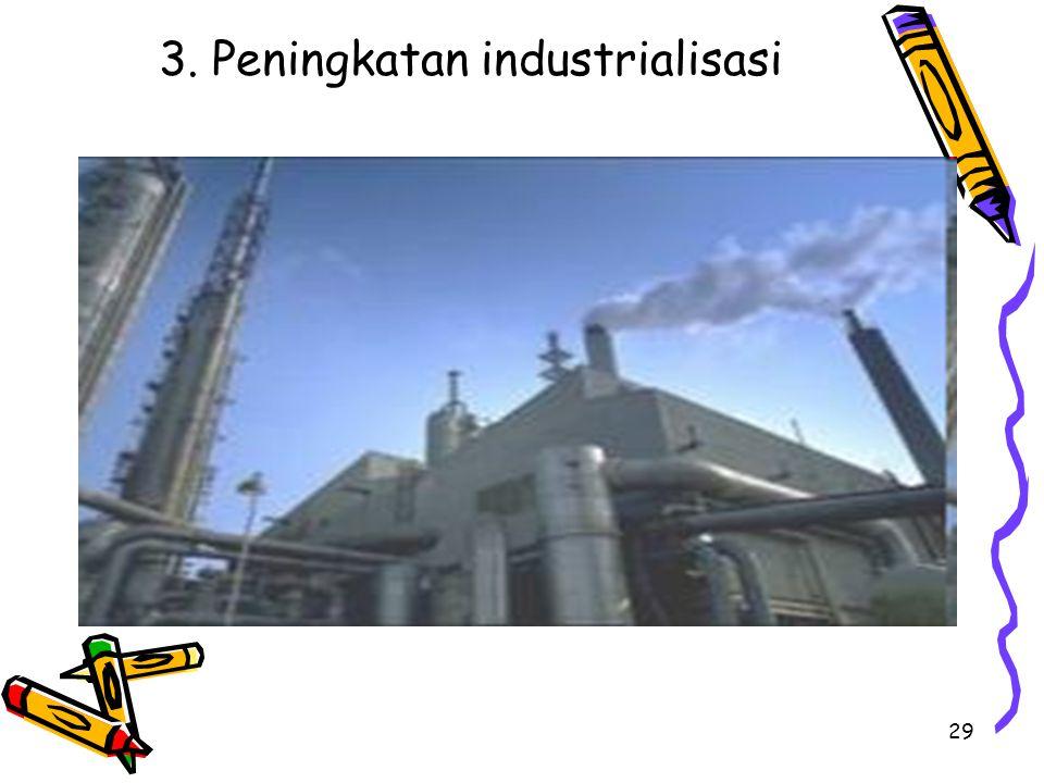 29 3. Peningkatan industrialisasi