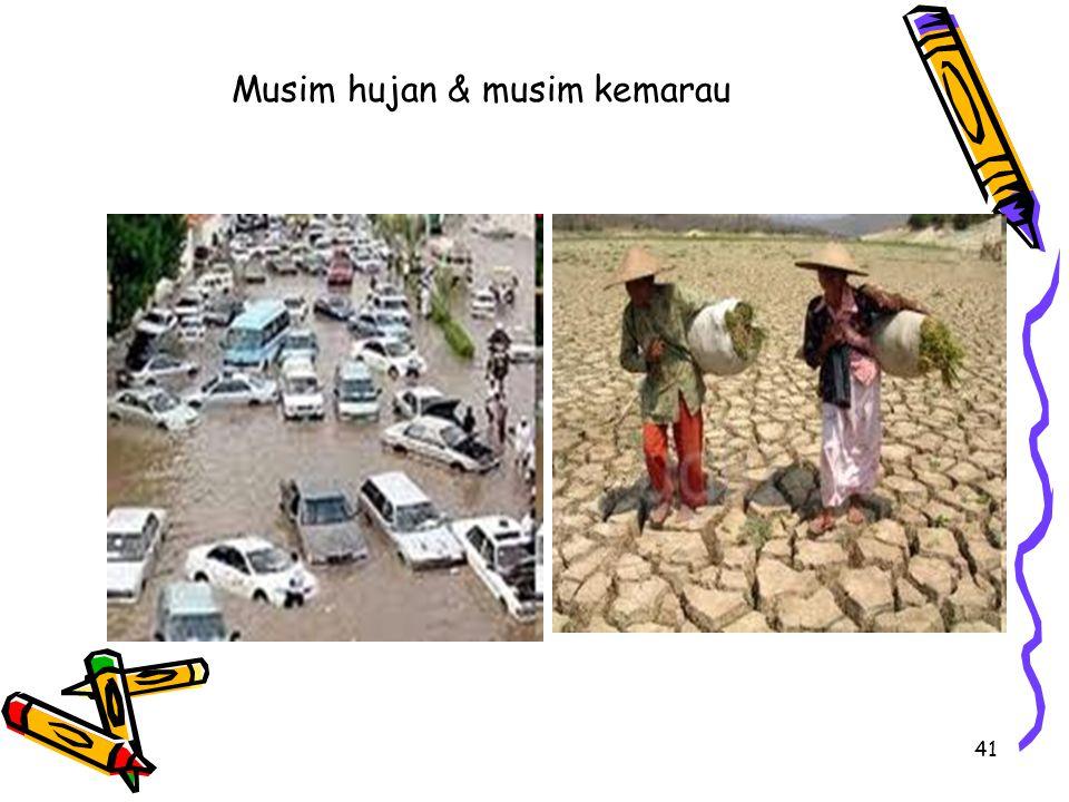 41 Musim hujan & musim kemarau