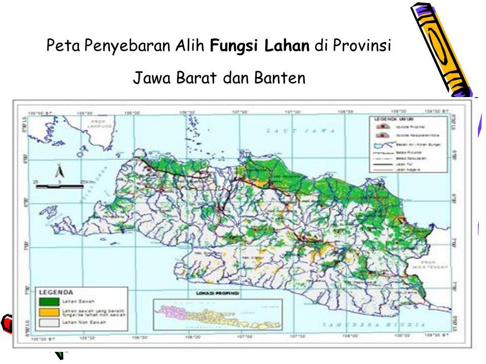 50 Peta Penyebaran Alih Fungsi Lahan di Provinsi Jawa Barat dan Banten
