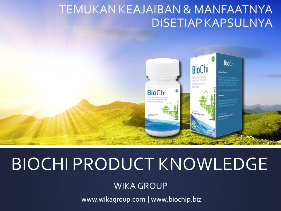 APA ITU BIOCHI Biochi adalah supplemen yang dikeluarkan oleh WIKA GROUP berbahan aktif Chitosan, Kulit Manggis, Ekstrak Tanaman Sidaguri berkulitas tinggi hasil penerapan bioteknologi modern berstandar internasional.