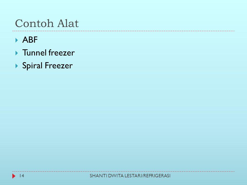 Contoh Alat  ABF  Tunnel freezer  Spiral Freezer 14SHANTI DWITA LESTARI/REFRIGERASI