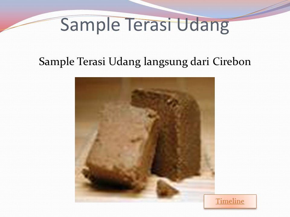 Sample Terasi Udang Sample Terasi Udang langsung dari Cirebon Timeline