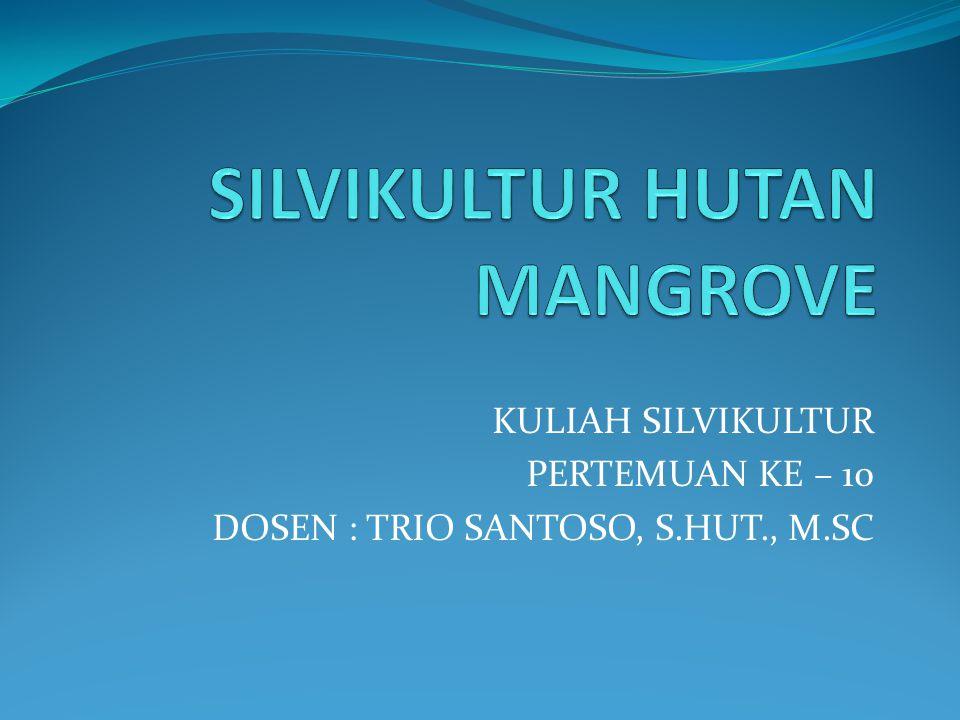KULIAH SILVIKULTUR PERTEMUAN KE – 10 DOSEN : TRIO SANTOSO, S.HUT., M.SC