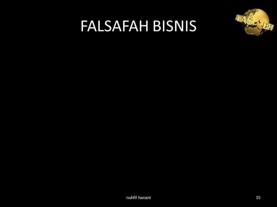 FALSAFAH BISNIS nuhfil hanani15