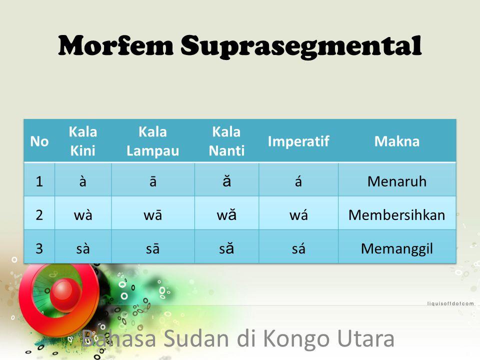 Morfem Suprasegmental Bahasa Sudan di Kongo Utara