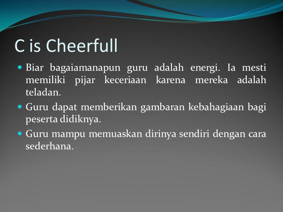 C is Cheerfull Biar bagaiamanapun guru adalah energi.