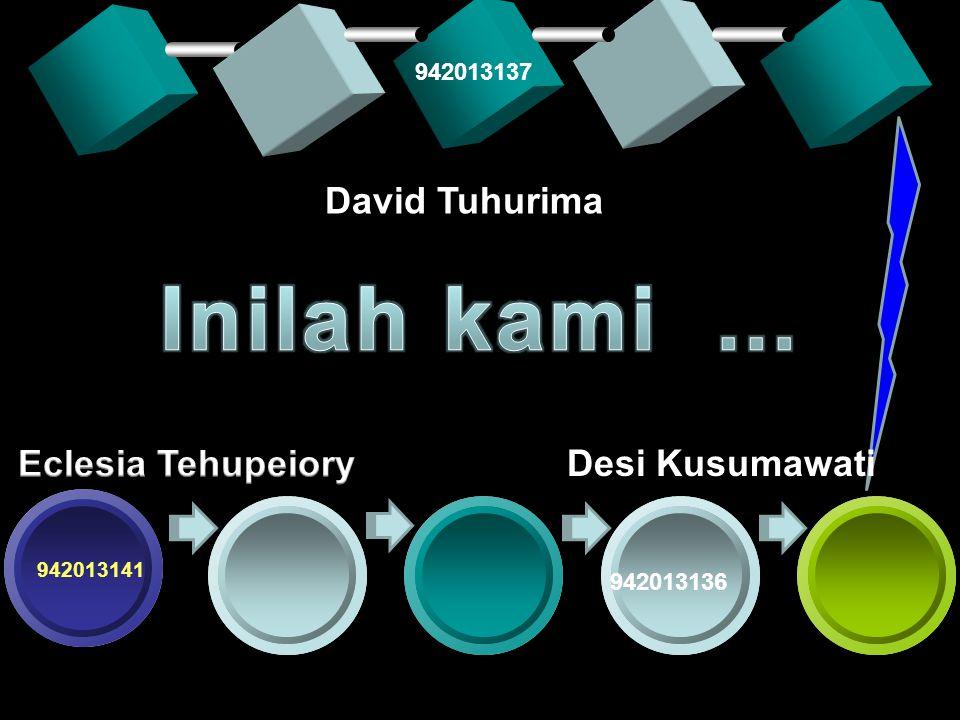 Desi Kusumawati 942013141 942013136 David Tuhurima 942013137
