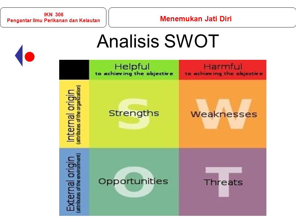 Analisis SWOT IKN 306 Pengantar Ilmu Perikanan dan Kelautan Menemukan Jati Diri